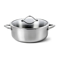Calphalon Contemporary Stainless Steel 8-Quart Dutch Oven with Cover [並行輸入品]