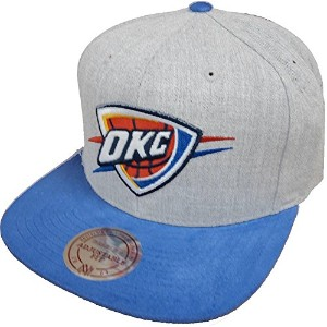 Mitchell & Ness NBA Oklahoma City Thunder VO59Z Heather Micro Snapback Cap Kappe