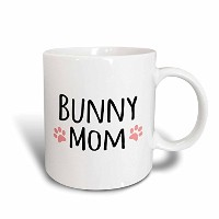3dローズInspirationzStoreペットデザイン–Bunny Mom–For Female Rabbit Lovers and Girlペット所有者–withキュートガーリーピン...