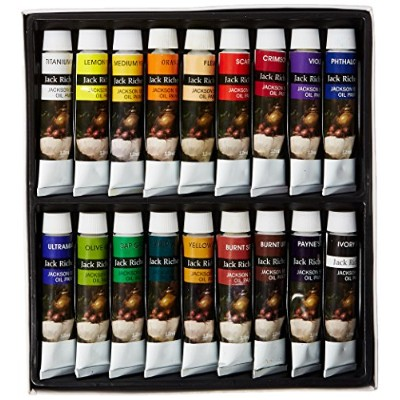 Jack Richeson Paints Oil Colors, 12ml, Set of 18 by Jack Richeson