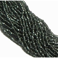 Black Diamond Smoke Silver Lined Czech 6/0 Seed Bead on Loose Strung 6 String Hank Approx 900 Beads...