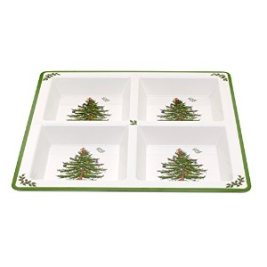 Spode Christmas Tree Melamine 4 Section Tray by Spode