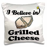 """Dooni Designs I Believe In–I Believe In Grilled Cheese–枕ケース 16 by 16"""" pc_105192_1"""