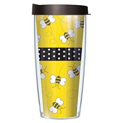 (650ml, Yellow) - Bees Wrap Super Traveller 650ml Tumbler Mug with Lid