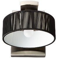 Eglo 87625A Monique, Nickel/Black, 1-Light Wall Light Fixture [並行輸入品]