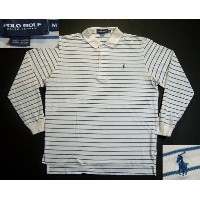 klt106 M POLO GOLF 長袖 ボーダー ポロシャツ US古着 【中古】 アメリカ古着