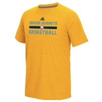 Denver Nuggets adidas 2016 On-Court climalite Ultimate T-Shirt メンズ Gold NBA Tシャツ デンバー ナゲッツ