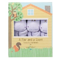Angel Dear Pair and a Spare 3 Piece Blanket Set, Purple Hippo by Angel Dear