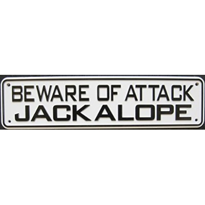 Beware Of Attack Jackalope Sign by Jelly BeadZテつョ