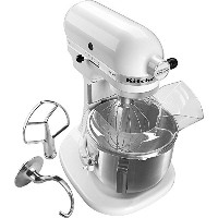 KitchenAid KSM500PSWH Pro 500 Series 10-Speed 5-Quart Stand Mixer, White by KitchenAid
