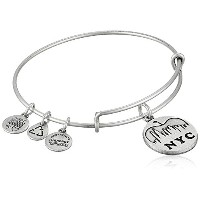 "Alex and Ani Places We Love NYC Skyline Expandable Wire Bangle Bracelet , 7.25 "" One Size シルバー"