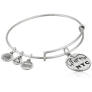 """Alex and Ani Places We Love NYC Skyline Expandable Wire Bangle Bracelet , 7.25"""" One Size シルバー"""