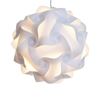 Niki Nu Lites L304-W Puzzle Lamp Shade Kit, Large, White by Niki Nu Lites