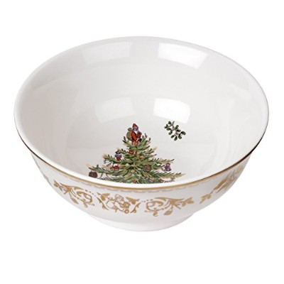 Spode Christmas Tree Bowl, Small, Gold