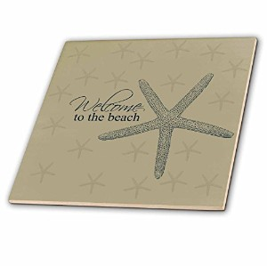 CT _ 123559PSビーチ–Welcome To The Beach Starfish–タイル 6-Inch-Ceramic ct_123559_2