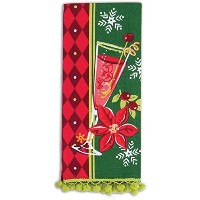 Kay Dee Designs Kitchen Printed Tea Towel with Ball Fringe, Poinsettia, H5178 by Kay Dee [並行輸入品]