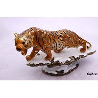 Feng Shui Tiger- Hand Crafted and Decorated Porcelain, Figurine 110119