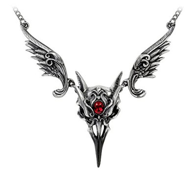 Masque of theブラックローズネックレスby Alchemy Gothic , England