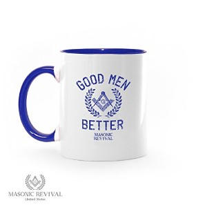 GoodメンズBetter Coffee Mug by Masonic Revival (ブルー)