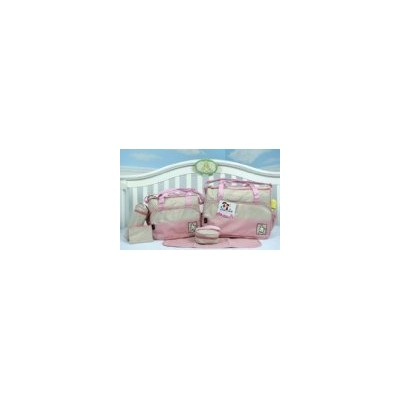SOHO- Pink Diaper bag with changing pad 6 pieces set by SoHo Designs