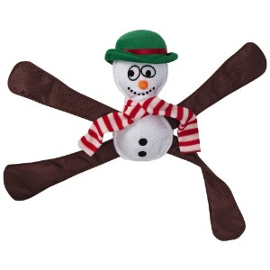 Doggles Pentapulls Holiday Snowman Tug and Squeak Toy by Doggles