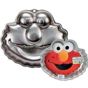 Wilton Elmo Face Cake Pan Mold (2105-3401, 2002) ~ Sesame Street Muppets by Jim Henson ~ Retired by...