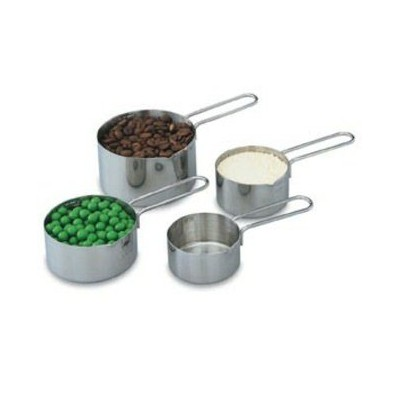 Vollrath 47119 Stainless Steel 4-Piece Measuring Cup Set