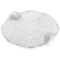 """IVV GlasswareディアマンテチーズPlatter、クリア 8-1/2"""" クリア 6625.1"""