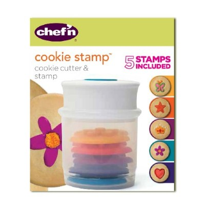 (Various Shapes) - Chef'n Shapes Cookie Stamp and Cutter Set, Various Shapes