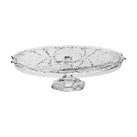 Mikasa Saturn Footed Cake Plate Stand, 14, Clear by Mikasa