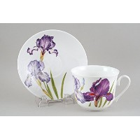 Roy Kirkham Fine Bone China Jumbo Breakfast Cup & Saucer IRIS by Roy Kirkham