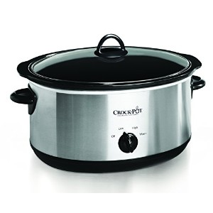 Crock-pot SCV800-S Oval Manual Slow Cooker, 8 quart, Stainless Steel by Crock-Pot