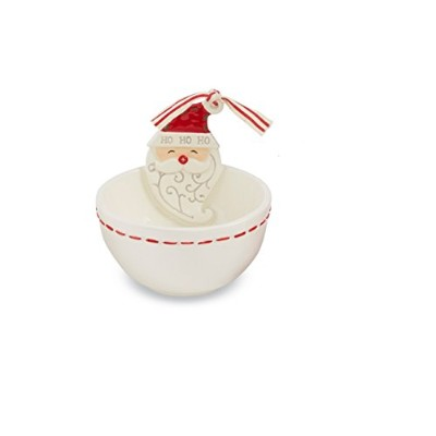 Mud PieクリスマスセラミックDeck The Halls Dip Bowl Cup 4855037S