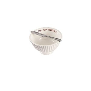 Mud Pie Holiday Dip Cup ホワイト 4851068