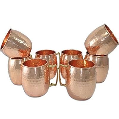 フィーゴIncハンドメイドPure Copper Hammered Moscow Mule Mug ( 8 )