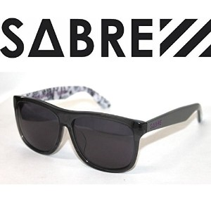 【sv132-2891】【SABRE】セイバー 正規品/POOLSIDE BACK CHANNEL×RYOONO MODEL メンズ・レディースサングラス/CLEAR GREY-GLOSS GREY...