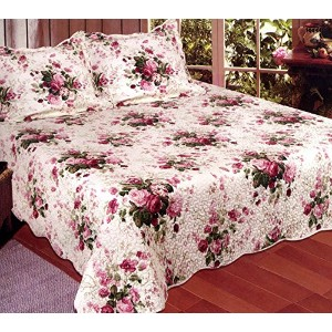 American Hometex Chinese Rose Kingキルトセット