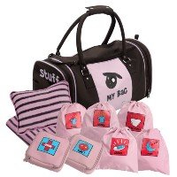Kushies My Bag The Ultimate Daycare/Overnight Bag, Girl Brown/Pink by Kushies