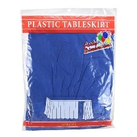 Party Dimensions Single Count Plastic Table Skirt, 29 by 14-Feet, Blue by Party Dimensions