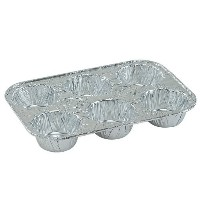 Disposable Recyclable Aluminum Foil 6 Muffin Pan by Regent