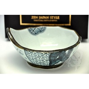Japanese Mino Yaki Dark Navyボウル12 / 12 / 6 cm ( 4.7 / 4.7 / 2.3インチ[ 7248 ]
