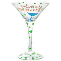 Westland Giftware 7-Inch Eat Drink Be Merry! Marini Glass, 7-Ounce by Westland Giftware [並行輸入品]