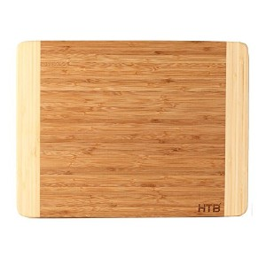 "HTB 100 %竹カッティングボード、Chopping竹ボードfor Food Prep、Making CocktailsまたはServing Appetizers Large:16.1"" x..."