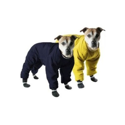 Muttluks Four Legged Nylon Reversible Dog Snow Suit, Size 12, Yellow/Black by Muttluks