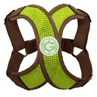 Gooby Choke Free Perfect Fit X Harness for Small Dogs, Medium, Green by Gooby