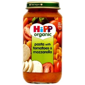 HiPP Organic Stage 3 from 10 months Growing up Meal Pasta with Tomatoes and Mozzarella 250g (pack...