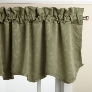 Lorraine Home Fashions Whitfield 52-inch by 18-inch Scalloped Valance, Sage by Lorraine Home...