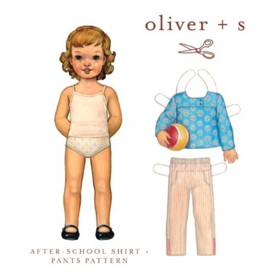 After-School Shirt + Pants Sewing Pattern (Sizes 5-12) by Oliver and S