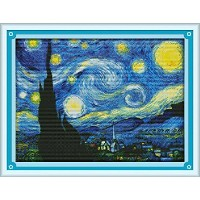 Benway Counted Cross Stitch Van Gogh Painting Starry Night 14 Count 18.5''x14.57'' by Benway
