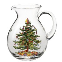 Spode Christmas Tree Glass Pitcher by Spode